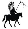 Vector clipart: horseman