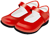 Frau `s rote Schuhe für Kinder
