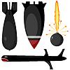 Set Bomben und Raketen.