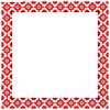 Quadratischen Rahmen mit traditionellen ukrainischen Elemente.
