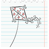 ID 3497103 | Ćwiczenie liść książki z obrazem latawca | Klipart wektorowy | KLIPARTO