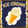 Vintage Hintergrund mit Eis und Obst