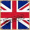 Vintage Hintergrund mit Flagge von Großbritannien
