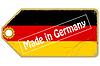 Vintage label mit Flagge von Deutschland
