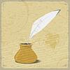 ID 3547879 | Imagen tinta y pluma de ganso en la cosecha de fondo | Ilustración vectorial de stock | CLIPARTO