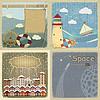 Set von Vintage-Postkarten