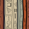 ID 3588149 | Nahtlose Textur mit alten Gegenständen | Stock Vektorgrafik | CLIPARTO