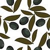 Nahtlose Textur mit schwarzen Oliven