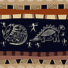 Nahtlose Textur mit Silhouetten von Dinosauriern