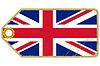 Vintage-Label mit Flagge des Vereinigten Königreichs