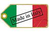 Vintage-Label mit Flagge von Italien