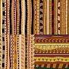 Set von Farbmustern primitiven Stammes-Muster