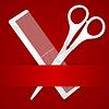 Schere und Kamm - Werbung Barbershop - auf