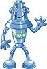 Nette Karikatur-Roboter