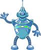 Netter Karikatur-Roboter