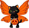 Nette Halloween-Katze