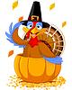 Thanksgiving Turkey in Kürbis