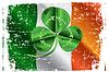 St. Patricks Day Three Leafed Clover | Stock Vektrografik