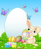 Easter Bunny malowanie jaja wielkanocne | Stock Vector Graphics