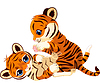 Nette spielerische Tiger Cub