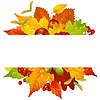 Herbst Rahmen mit Herbst Blatt