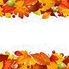 Осенний фон с опавшими листьями | Векторный клипарт
