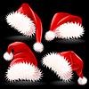 Шапки Деда Мороза | Векторный клипарт