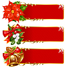 Weihnachten horizontal background set
