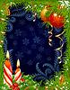 Weihnachten, Neujahr Grußkarte