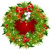 Weihnachtsgirlande Rahmen