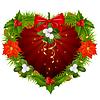 Adventskranz in Form von Herzen