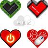 Valentinstag die Herzen Karten