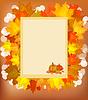 Herbst-Postkarte