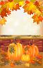Herbst, Postkarte.