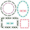 Декоративные цветочные рамки и элементы | Векторный клипарт