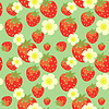 ID 3575492 | Strawberry seamless pattern with flowers | 高分辨率插图 | CLIPARTO
