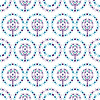 Seamless ornamental damask pattern | Stock Illustration