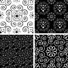 Schwarz und weiß nahtlose ornamentalen Mustern