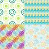 Nahtlose Muster mit abstrakten Kreise