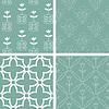 Blaue und weiße nahtlose Muster Sammlung