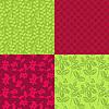 Rote und grüne nahtlose Muster