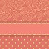 条纹和图案的粉红色的名片模板 | 向量插图