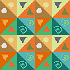 Абстрактные бесшовные шаблон треугольники с декором | Векторный клипарт
