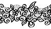 Jednolite czarne koronki | Stock Vector Graphics