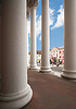 ID 3445903 | Griechische Säulen und Rathaus Karlsruhe | Foto mit hoher Auflösung | CLIPARTO