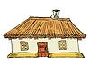 Ukrainischen traditionellen Haus
