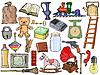Set von verschiedenen Vintage-Objekte