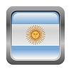 metallic button in den Farben von Argentinien