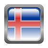 metallic button in den Farben von Island