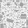 Векторный клипарт: Мебель фоне